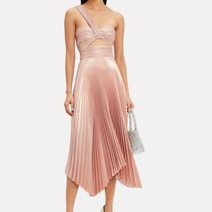 A.L.C. Aurora Pleated One Shoulder Dress